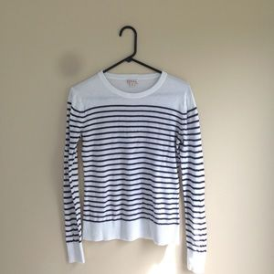 Merona white and navy striped sweater size M